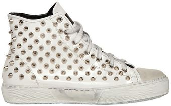 Gienchi Studded Patent Leather Sneakers - Lyst