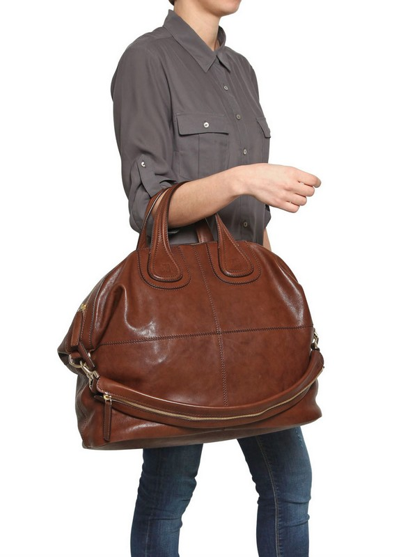 054d43b2d734 Lyst - Givenchy Large Nightingale Smooth Leather Bag in Brown