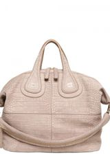 Givenchy Medium Nightingale Embossed Top Handle - Lyst
