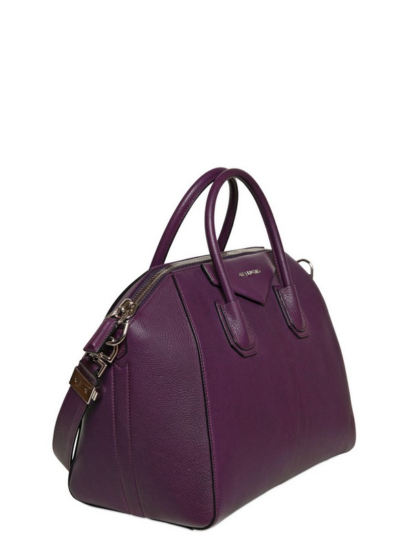 5713bb821d6b Lyst - Givenchy Medium Antigona Chic Leather Top Handle in Purple