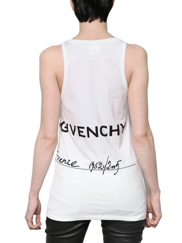 35806881b65bf Lyst - Givenchy Maison Givenchy Cotton Jersey Tank Top in White