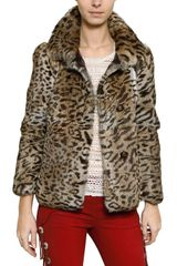 Isabel Marant Leopard Print Rabbit Fur Coat - Lyst