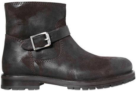 Jimmy Choo Rubber Suede and Shearling Hoxton Boots in Black for Men (brown) - Lyst