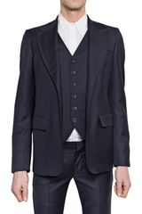 John Galliano Wool Suiting Luciano Waistcoat Jacket - Lyst