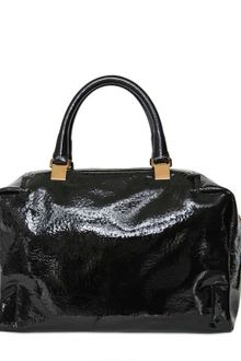 Lanvin Polochon Patent Leather Top Handle - Lyst
