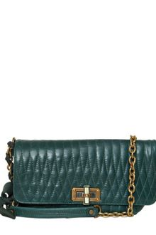 Lanvin Happicolo Quilted Leather Shoulder Bag - Lyst