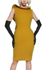 Lanvin Neoprene Dress in Yellow - Lyst
