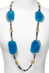 Lauren by Ralph Lauren Expedition Multi Bead Agate Necklace  - Lyst
