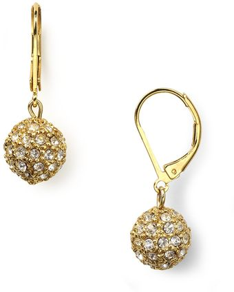 Lauren by Ralph Lauren Lauren By Ralph Lauren Pave Ball Drop Earrings - Lyst
