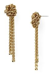 Lauren by Ralph Lauren Drop Earrings Knot Braided Chain Earrings - Lyst