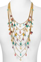 Lauren by Ralph Lauren The Breakers Multi Bead Drama Necklace  - Lyst