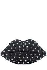 Lulu Guinness Studded Lips Perspex Clutch - Lyst