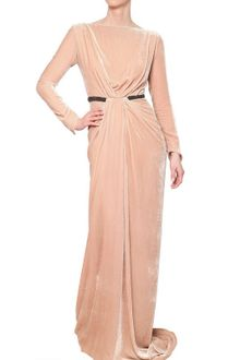 Maria Lucia Hohan Gathered Velvet Dress with Crystal Belt - Lyst