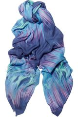 Matthew Williamson Printed Modal and Cashmere Blend Scarf in Blue (multicolored) - Lyst
