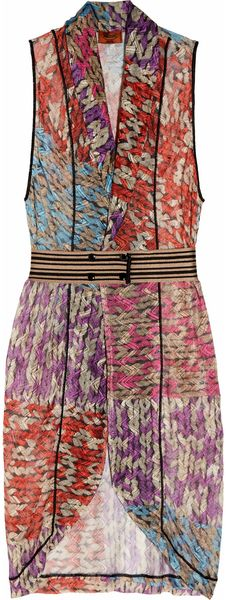 Missoni Praga Crochetknit Patchwork Wrap Dress - Lyst