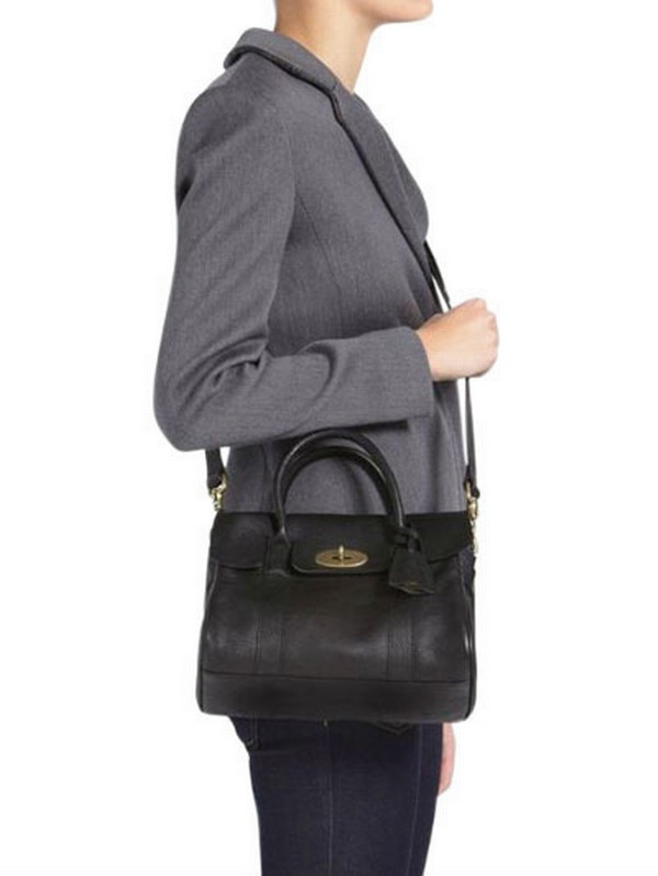 f7a3e1415af1 ... new arrivals lyst mulberry small bayswater natural leather bag in black  1d094 c1947