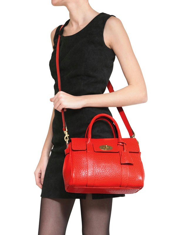 c11a98bed9 ... best price red orange lyst mulberry small bayswater shiny grainy  leather bag in orange fd729 ce0c8 ...