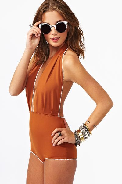 Nasty Gal Betty Swimsuit Rust in Brown (rust) - Lyst