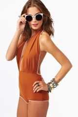 Nasty Gal Betty Swimsuit Rust
