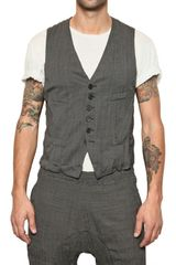 Neil Barrett Creased Pattern Suiting Wool Mix Vest - Lyst