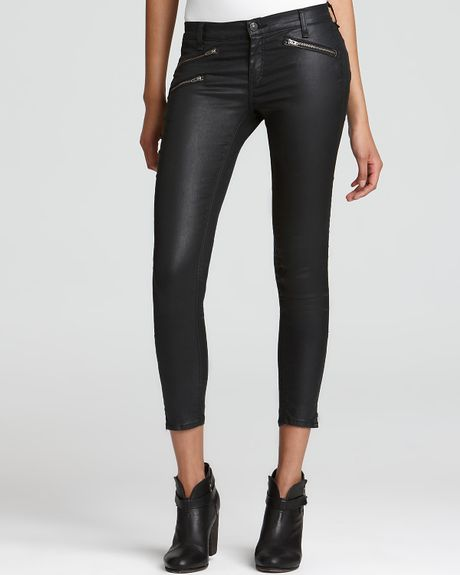 Rag & Bone Leggings  with Zippers in Gray (seal) - Lyst