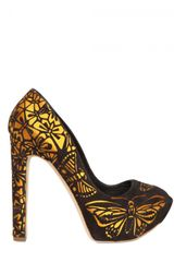 Rupert Sanderson 130mm Laser Cut Suede Butterfly Pumps - Lyst