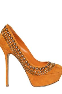 Sergio Rossi 130mm Studded Suede Pumps - Lyst