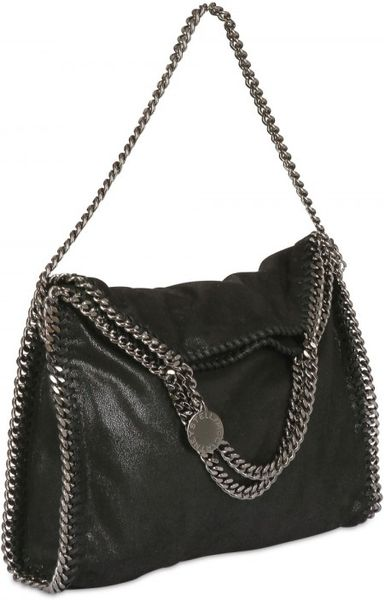Stella Mccartney Three Chain Falabella Faux Deerskin Bag