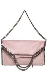 Stella McCartney Three Chain Falabella Faux Deerskin Bag - Lyst