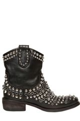 Strategia 40mm Calfskin Studded Boots - Lyst