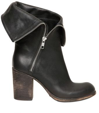 Strategia 80mm Calfskin Zip Folded Boots - Lyst