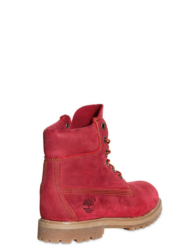 68b831040642a Red Nubuck Timberland Boots - Image Collections Boot