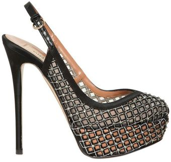 Valentino 130mm Silk and Swarovski Pumps - Lyst