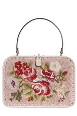 Valentino Rock Stud Embroidered Frame Top Handle - Lyst