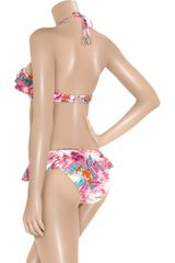 Zimmermann Hawaiian Print Halter Neck Bikini in Multicolor (fuchsia) - Lyst