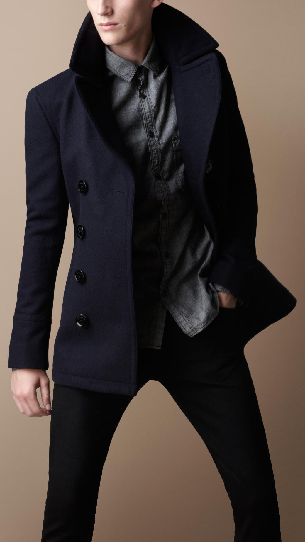 Burberry overcoat men