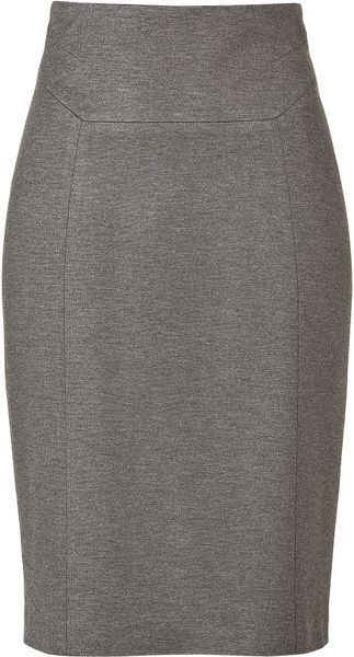 Hugo Medium Grey Ramika Skirt in Gray (grey) - Lyst
