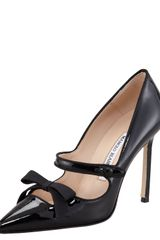 Manolo Blahnik Fiocam Patent Leather Mary Jane Pump - Lyst