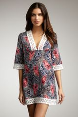 Milly Amazon Leaf Print Coverup Dress - Lyst