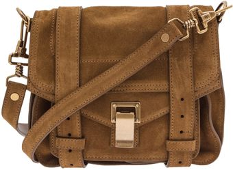 Proenza Schouler Ps1 Small Tan Suede Cross Body Bag - Lyst