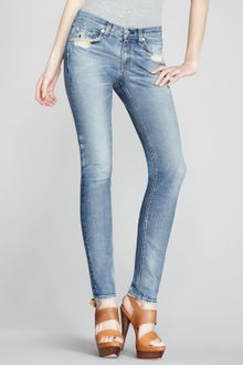 Rag & Bone The Skinny Destroyed Jeans - Lyst