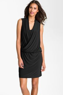 Taylor Dresses Surplice Blouson Jersey Dress - Lyst