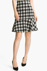 Tracy Reese Gingham Flare Skirt - Lyst