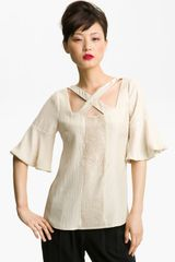 Tracy Reese Hammered Silk Blouse