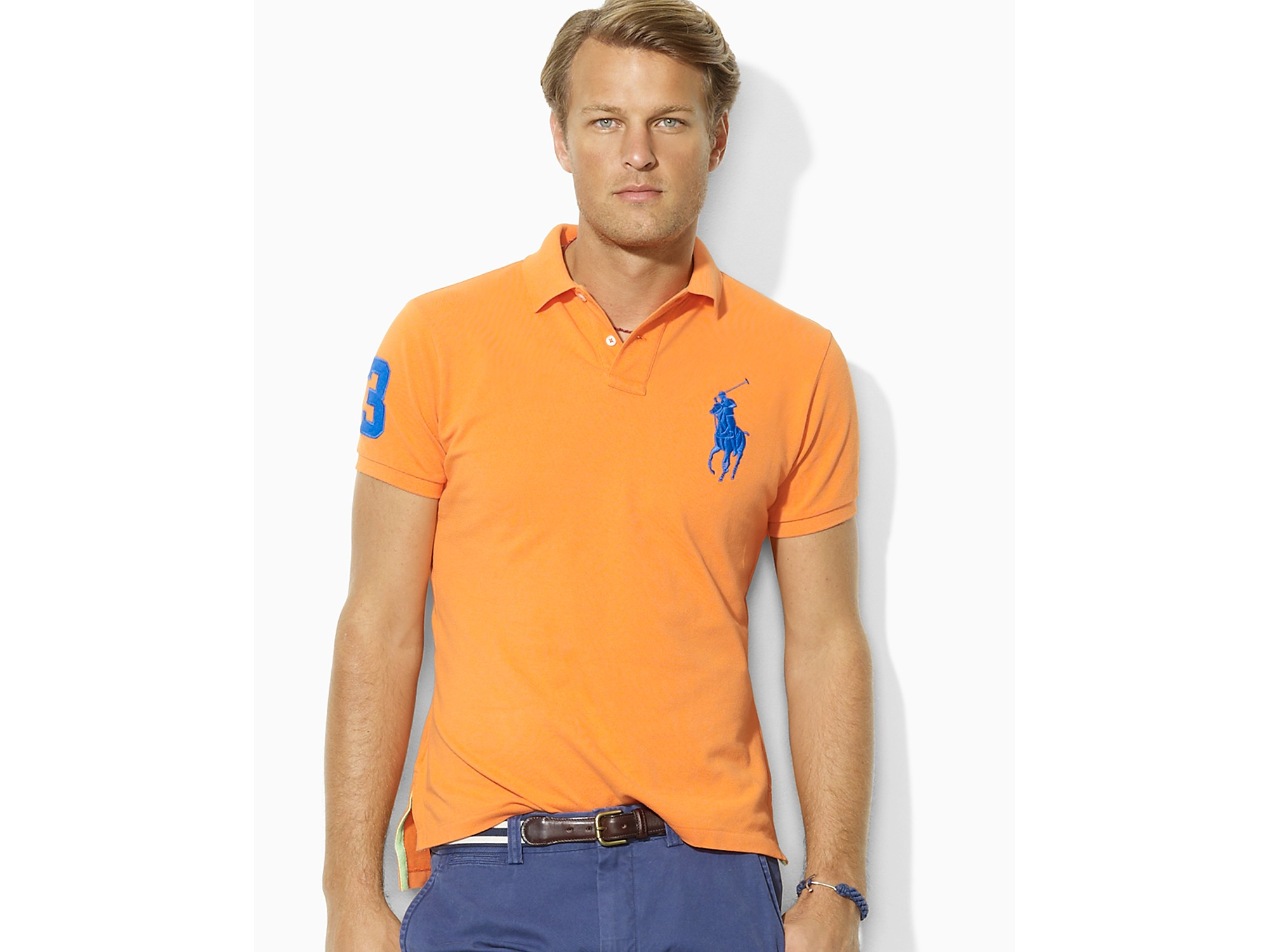 Ralph Lauren Men Pony Polo Grey Fashion .
