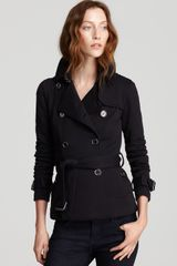 Burberry Brit Broxtone Jersey Jacket with Leather Collar - Lyst