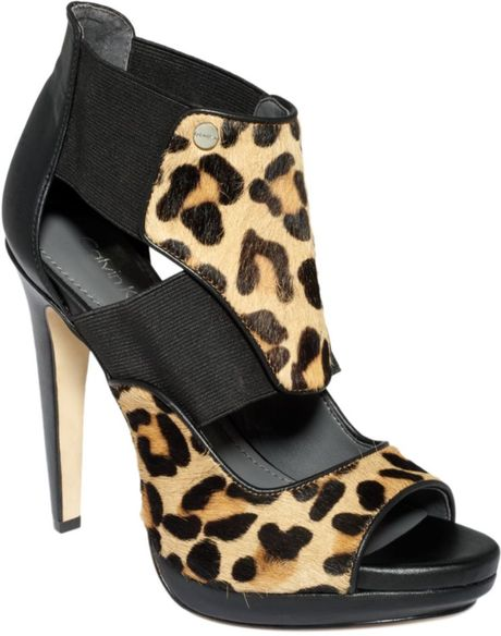 Calvin Klein Sonia Shooties in Animal (black/leopard haircalf) - Lyst