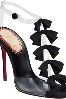 Christian Louboutin Bow Bow Sandals - Lyst