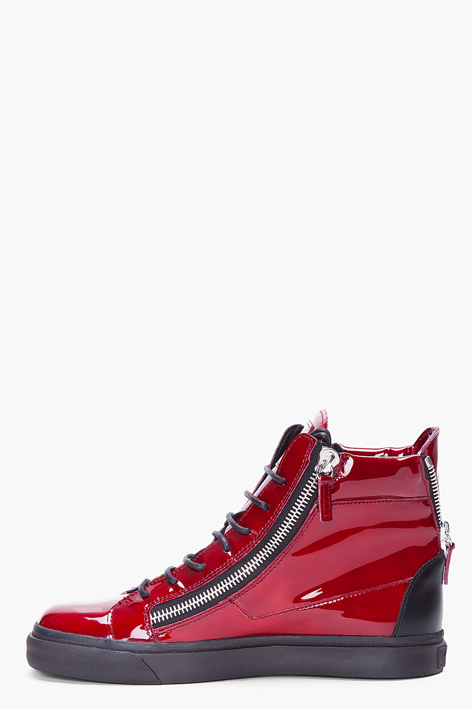 Giuseppe Zanotti Red Patent Leather Sneakers In Red For