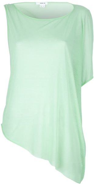 Helmut Lang Asymmetric Top in Green - Lyst